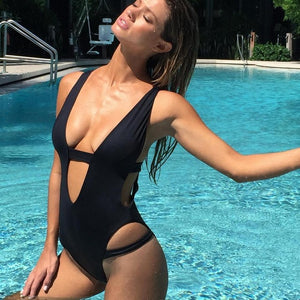 Janet Sexy One Piece Cut Out Bathing Suit