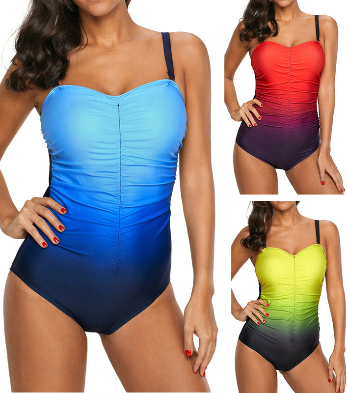 Melanie Halter One Piece Padded Bra Swimsuit