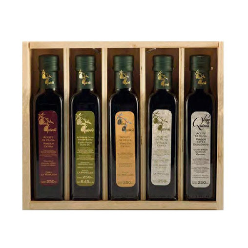 Oil tasting case (5 varieties) by Oleos Quirós