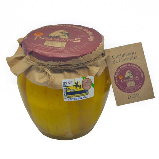 Manchego cheese in oil Pasamontes