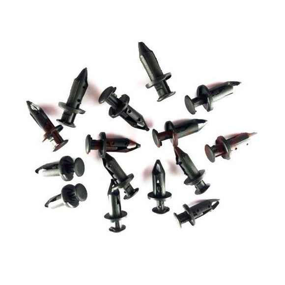 100-Pack Compatible Plastic Fender Clips Body Rivets for