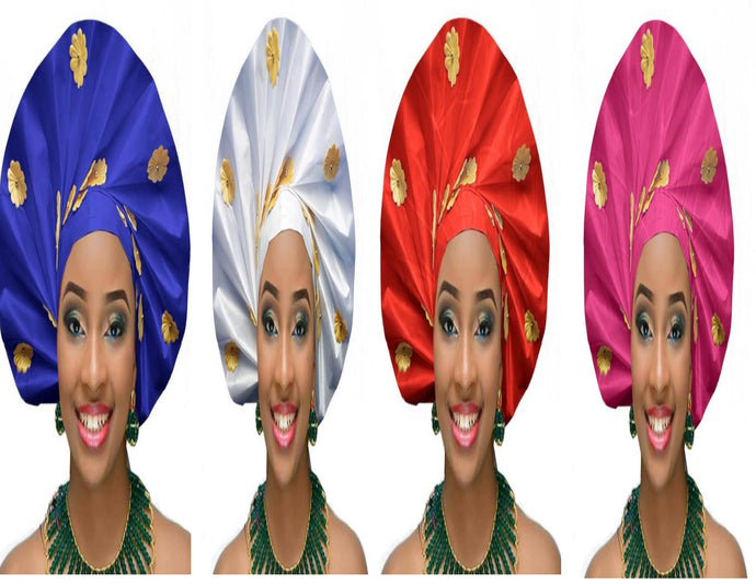 Gailis Ready To Wear Headtie African headwear Ready Made Aso Oke Gele