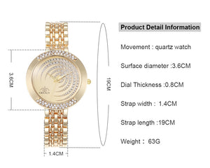 Joneo Luxury Quartz  Bracelet Women Crystal Watch