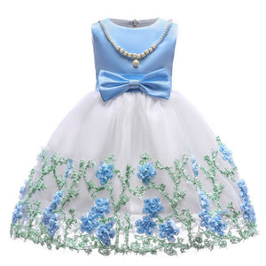 Girls Wedding Party Dresses Kids Princess Christening Children Clothing