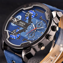 Load image into Gallery viewer, Benny Mens Top Brand Luxury Leather Band Quartz Wrist Watch With Date Dual Japan Quartz