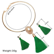Load image into Gallery viewer, Levina Bridal Jewelry Sets Crystal Tassel Necklace Pendant Jewelry Sets-jewelry set-Elegant Fashion Style