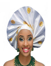 Load image into Gallery viewer, Gailis Collections Ready To Wear Headtie African headwear Ready Made Aso Oke Gele
