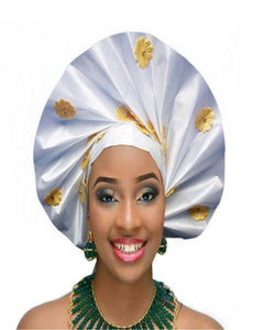 Gailis Collections Ready To Wear Headtie African headwear Ready Made Aso Oke Gele