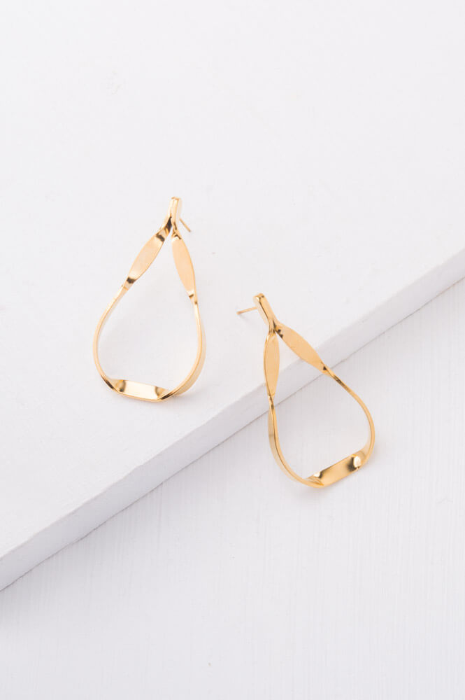 Isla Silver or Gold Tear Drop Earrings
