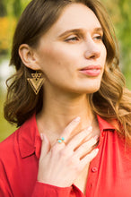Load image into Gallery viewer, CiCi Silver or Gold Women Warrior Tribal Earrings
