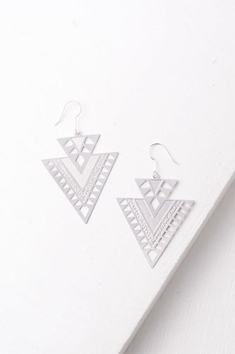 CiCi Silver or Gold Women Warrior Tribal Earrings