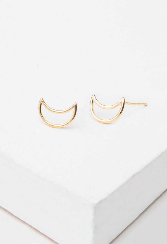 Love you to the Moon and Back Phoenix Gold Earrings