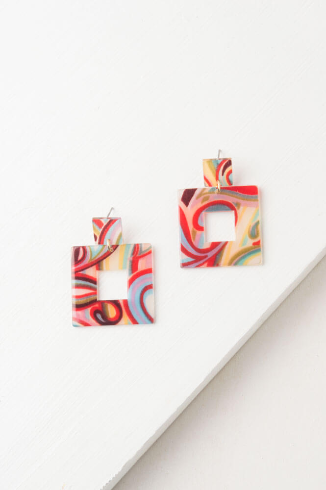 Dailey Resin Multi Colored Earrings