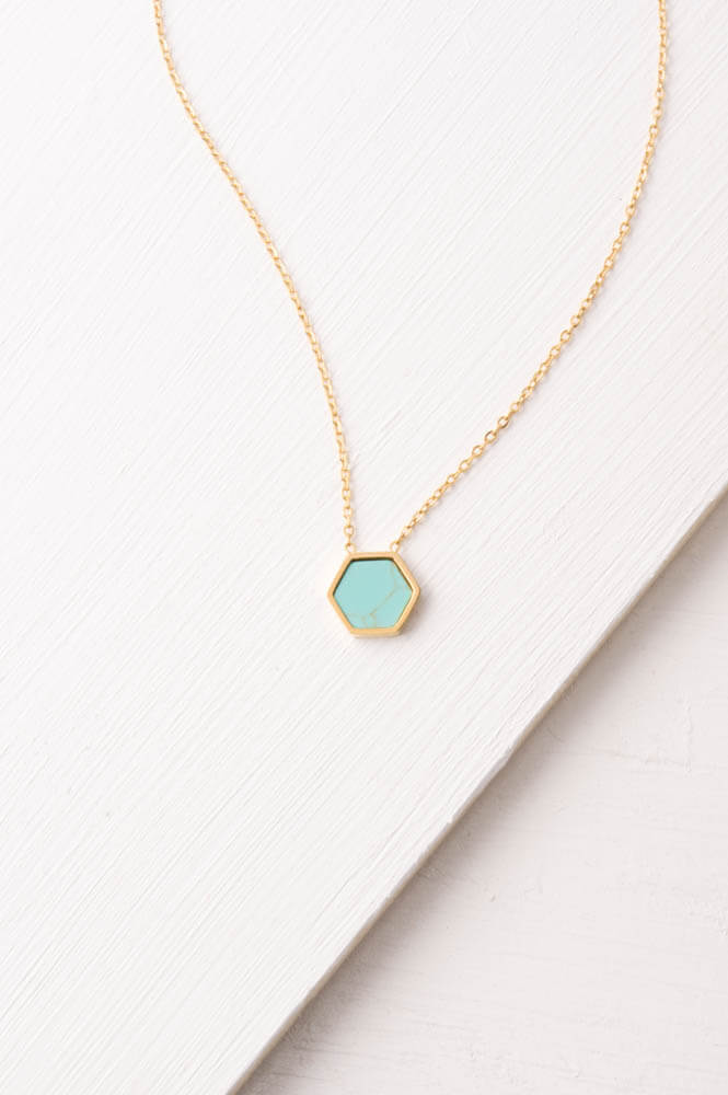 Isabel Hexagon Necklace