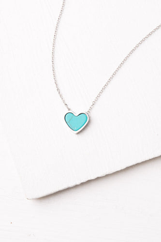 Happy Valentines Day: Bay Turquoise Heart Necklace