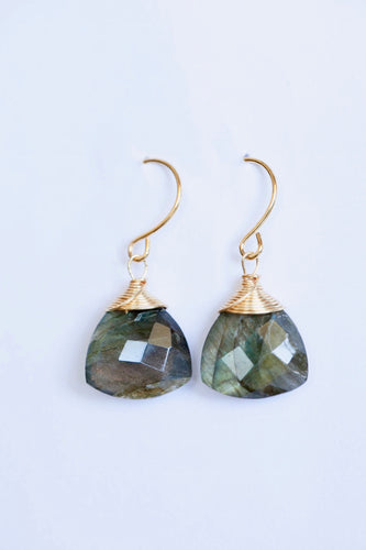 The Palms: Hawaiian made Labradorite Earrings