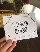 "Load image into Gallery viewer, ""I Love You"" Kiddo Inspired Postcard"