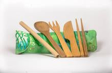 Magic Pineapple Bamboo Utensils