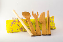 Load image into Gallery viewer, Sunshine and Happy Bamboo Utensils