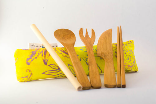 Sunshine and Happy Bamboo Utensils