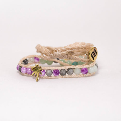 Adjustable Shimmy Bracelets: The Purple Palm