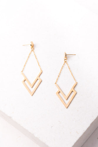 Dominique Gold Dangle Earrings