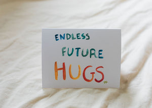 "Belah  ""Endless Future Hugs"" Handmade Cards"
