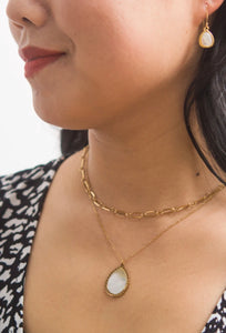 Holly Layered Mother of Pearl Necklaces