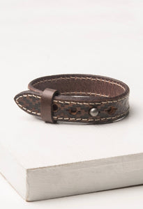 Charlie Chocolate Leather Bracelet