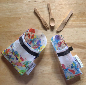 "Fused Plastic ""Bring-Your-Own"" Slide Pouch and Cutlery Sets"