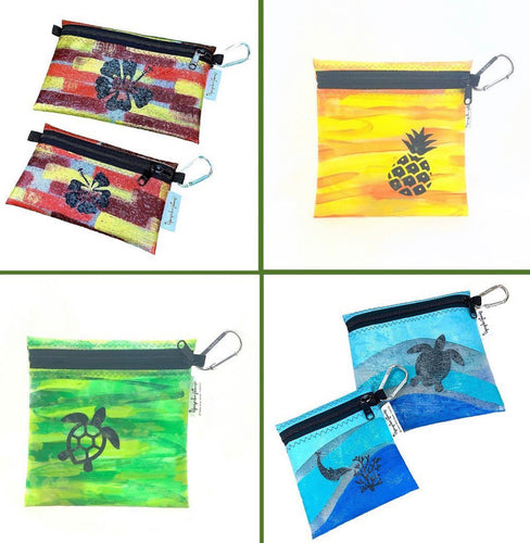 Painted Fused Hawaii Plastic Zipper Pouch