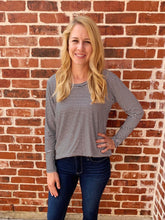 Load image into Gallery viewer, Striped Scoop Neck Long Sleeves