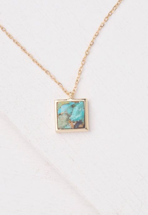 Candice Ocean Turquoise Pendant Necklace