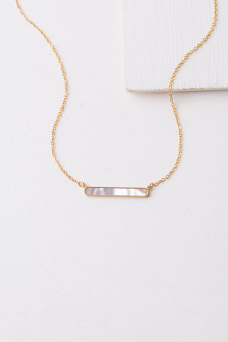 Natalia Mother of Pearl Bar Necklace