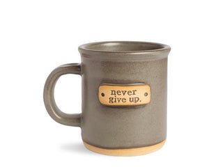 Never Give Up Mantra Mug