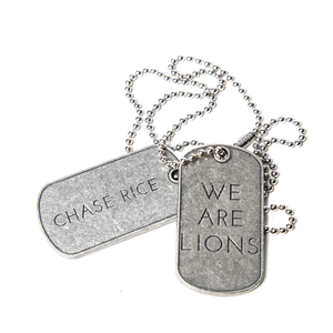 We Are Lions Dog Tag Necklace