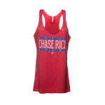 Ladies Chase Rice Flag Racerback Tank
