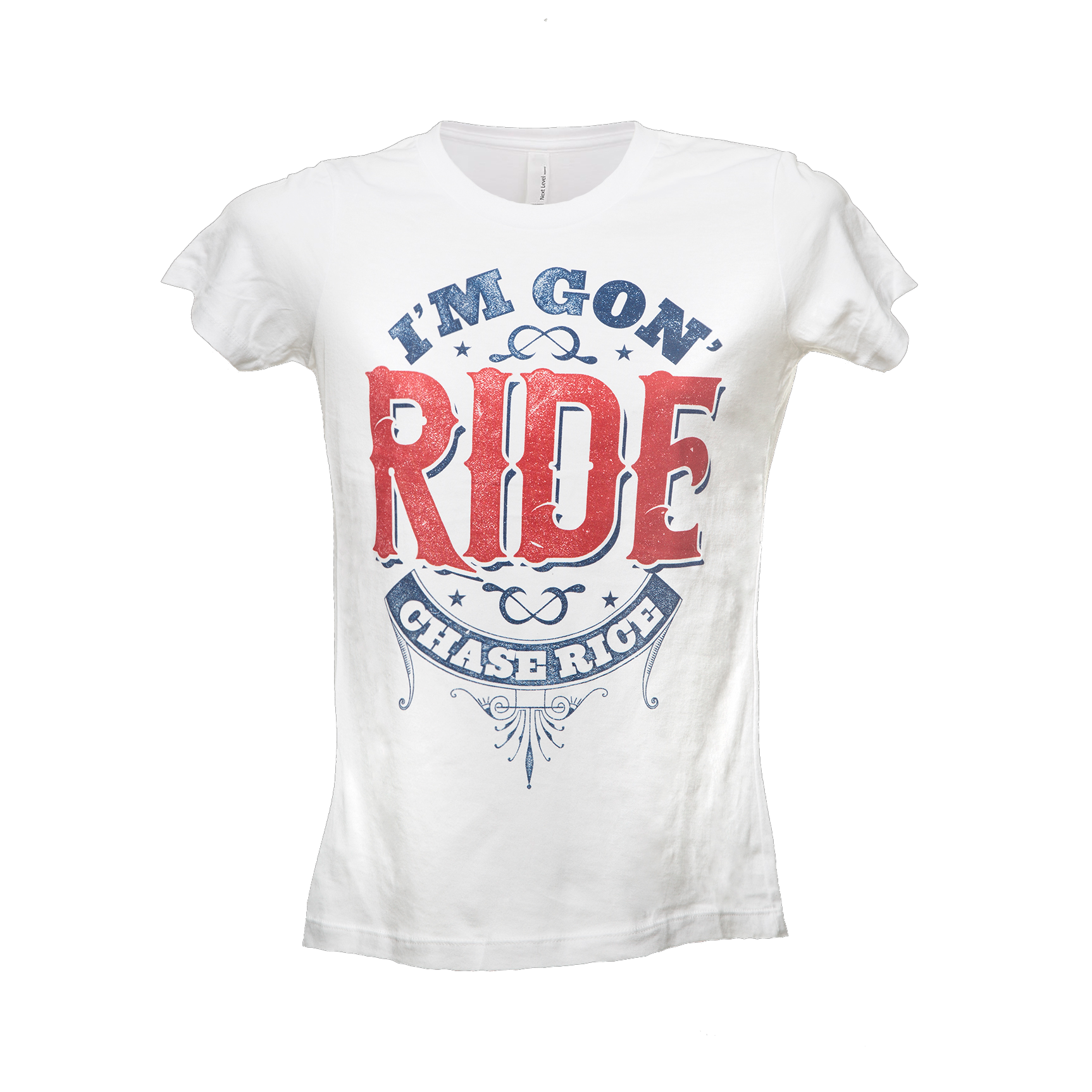 Ladies I'm Gon' Ride Tee - White