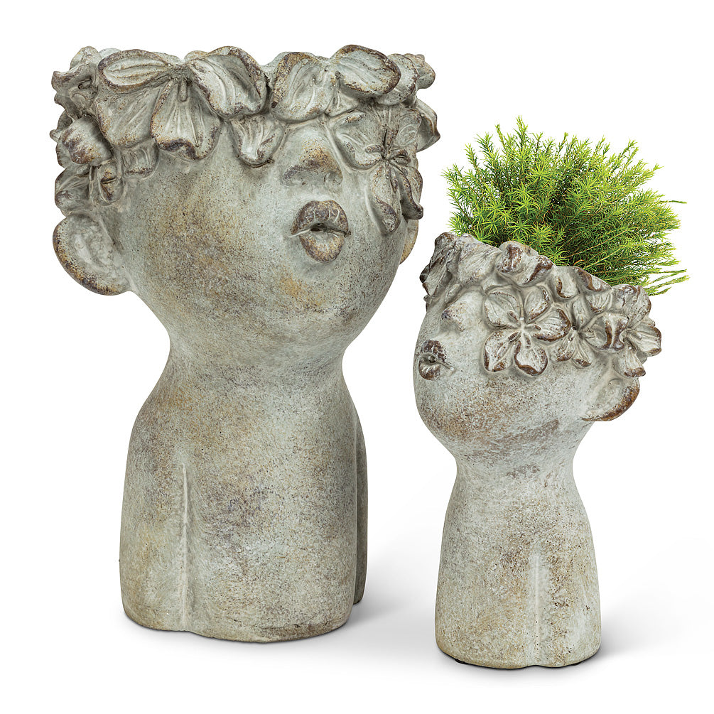 Small Kissing Face Planter 7.5''H - Cactus en ligne