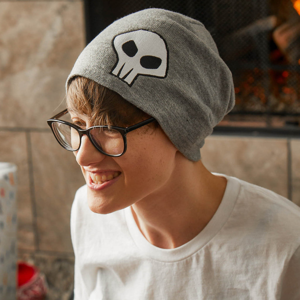 Gaige Skull Gray Slouchy Beanie by GEARBOX LOOT