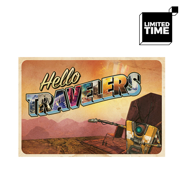 Hello Travelers! 4x6 Postcards - 10 Pack by GEARBOX LOOT