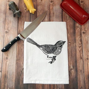 Bird Flour Sack Tea Towel