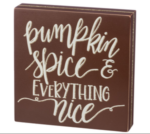 Pumpkin Spice Wood Box Sign