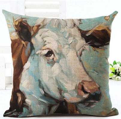Betty the Cow Cotton Pillow Cover