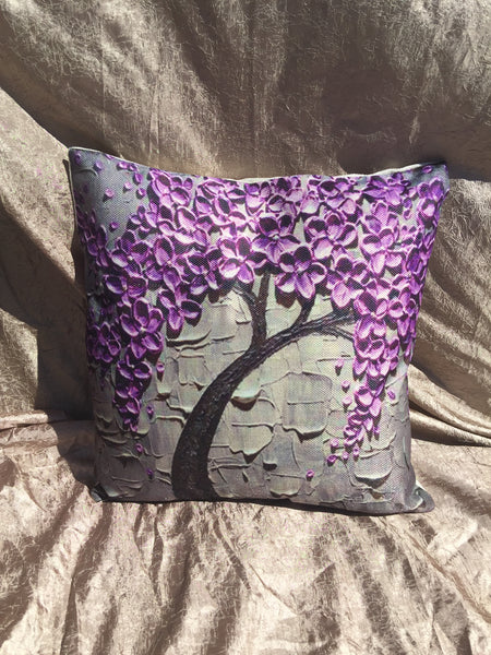Watercolor Tree Pillow Cover Robins Nest Decor More