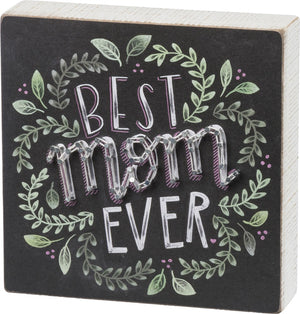Chalk String Art - Best Mom Ever