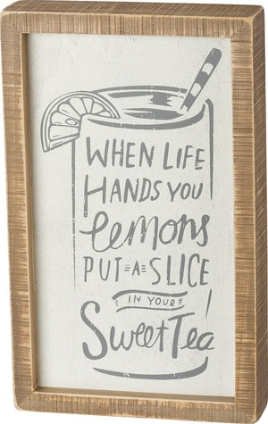 Sweet Tea Inset Box Sign