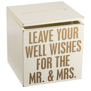 Well Wishes for the Mr. & Mrs. Card Box