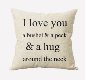 Bushel and a Peck Pillow Cover