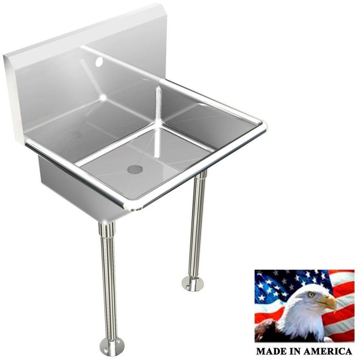 "Stainless Steel Hand Sink | Single Station |  24"" Line - Best Sheet Metal, Inc."